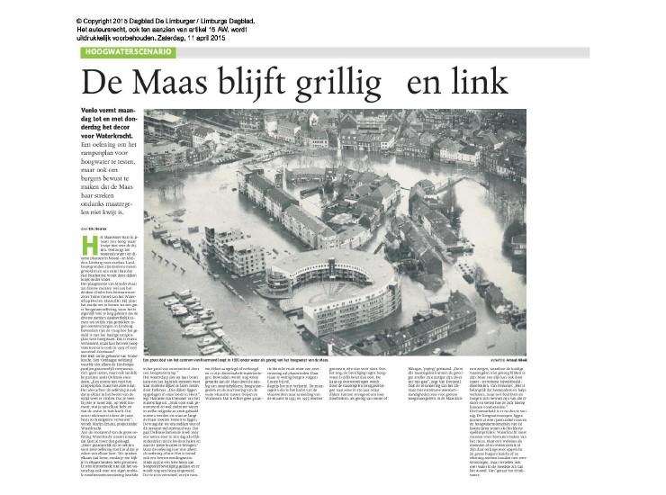 Hoogwaterscenario - De Maas blijft grillig en link!